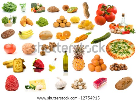 Set of vegetable food - stock photo