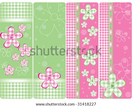 Set of vertical tags - stock photo