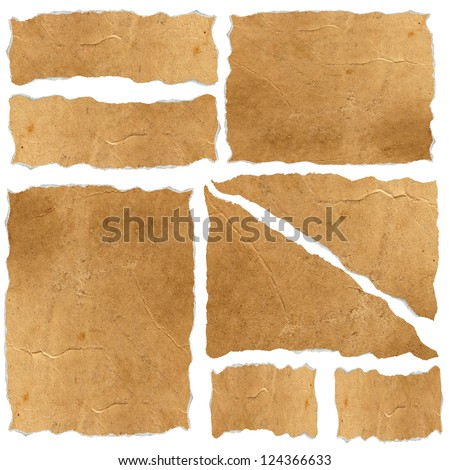 Set of vintage papers - stock photo