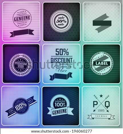 Set of vintage retro labels ?an be used for invitation, congratulation or website - stock photo