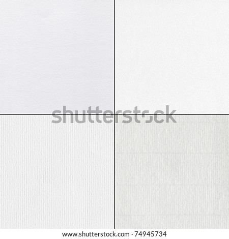 Set of watercolor paper textures - stock photo