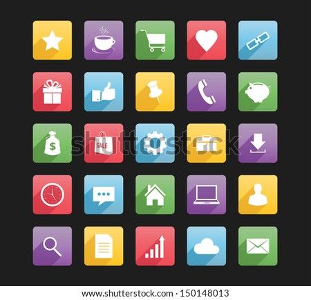 Set of Web Icons 1 bitmap copy - stock photo