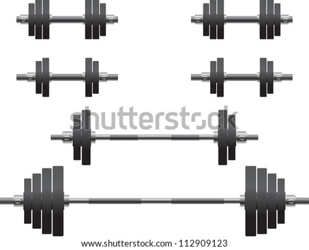 set of weights. raster variant - stock photo