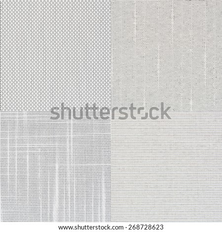 Set of white vinyl samples, texture background. - stock photo