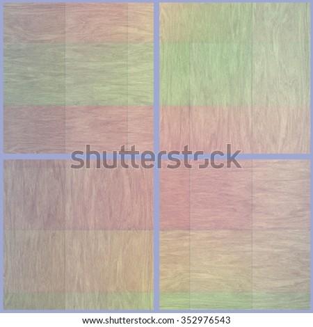 Set of woden vintage color texture background - stock photo