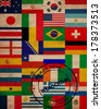 set of world flags in world cup in Brazil  - stock photo