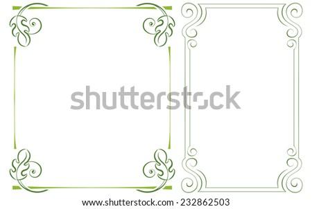 set vertical frame. Element for graphic design - stock photo