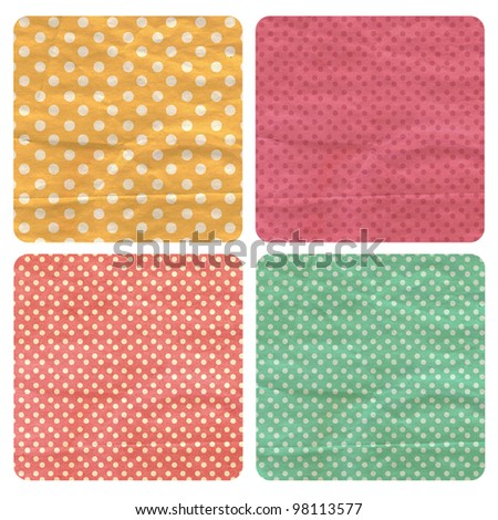 set with vintage pattern, retro texture - stock photo