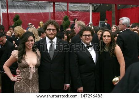 Seth Rogan & Jonah Hill, and dates 80th Academy Awards ( Oscars) Kodak Theater Los Angeles, CA February 24, 2008 - stock photo