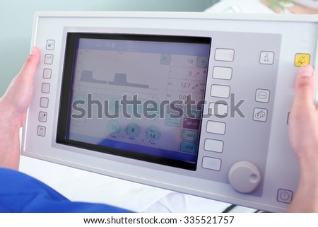 Setting of the medical device - stock photo
