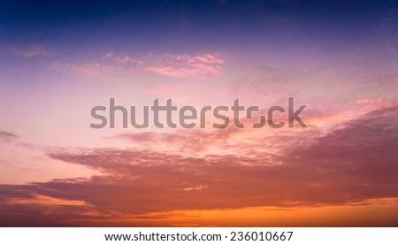 Setting Sun Fiery Heaven  - stock photo