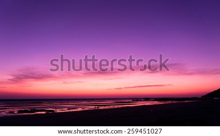 Setting Sun Sunset Glow  - stock photo
