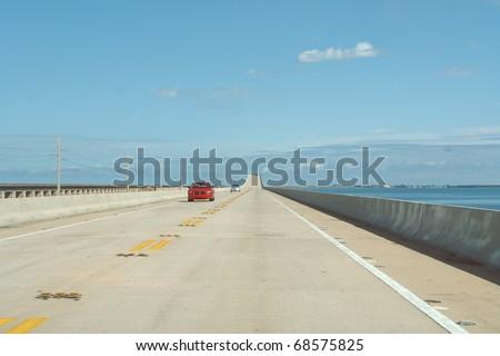 Seven Miles Bridge - stock photo