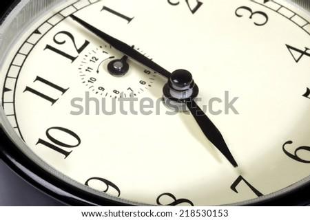 seven o'clock close up - stock photo