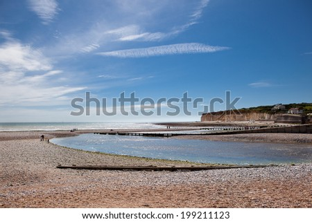Seven Sisters National Park, Cuckmere river and country walks, East Sussex - stock photo