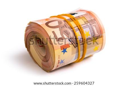 seven thousand five hundred euro  - stock photo