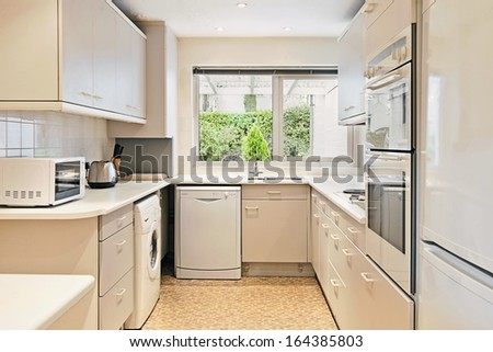 Seventies Style Kitchen - stock photo