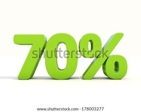 Seventy percent off. Discount 70%. 3D illustration. - stock photo