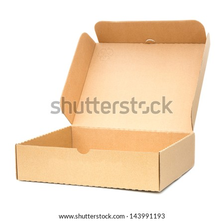 Several boxes on white background. - stock photo