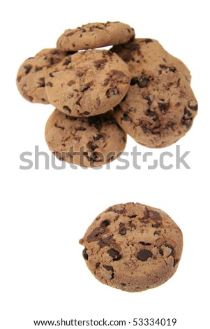 several cookies isolated on white background - stock photo