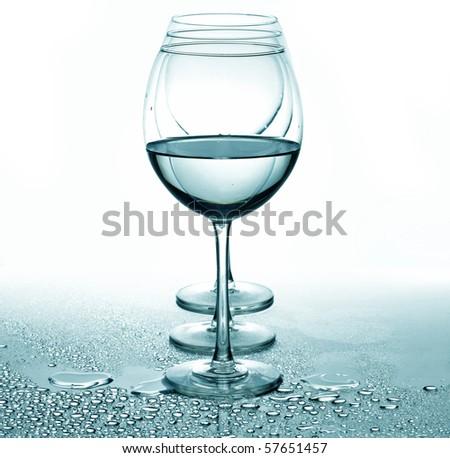 Several glasses - stock photo