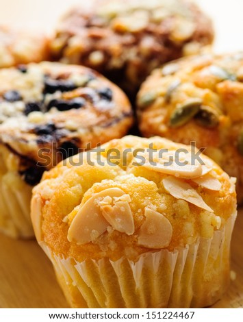 several type muffins - stock photo