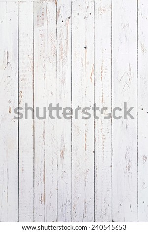 several wooden boards painted white and used - stock photo