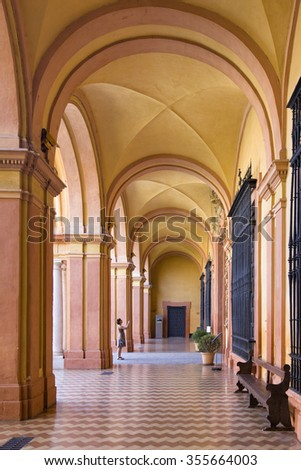 SEVILLE, SPAIN - SEPTEMBER 1: Interior of the wealthy decorated Real Alcazar, a royal palace, on September 1, 2015 in Seville, Spain. - stock photo