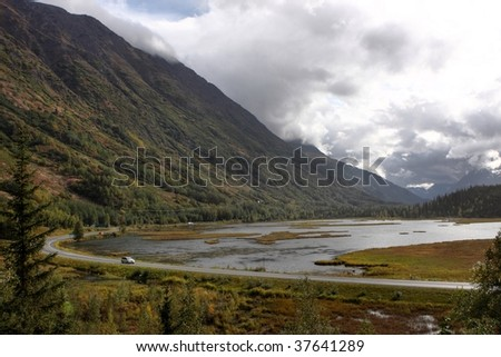 Seward highway, Alaska - stock photo