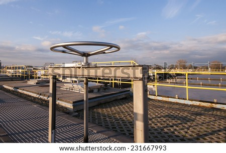 sewer valve - stock photo