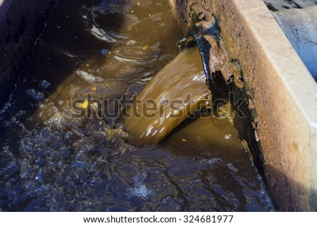 sewer waste water ditch - stock photo