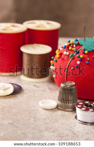 Sewing 2 - stock photo