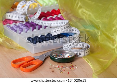 Sewing accessories - stock photo