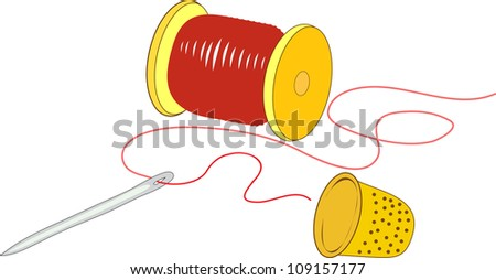 sewing business - stock photo