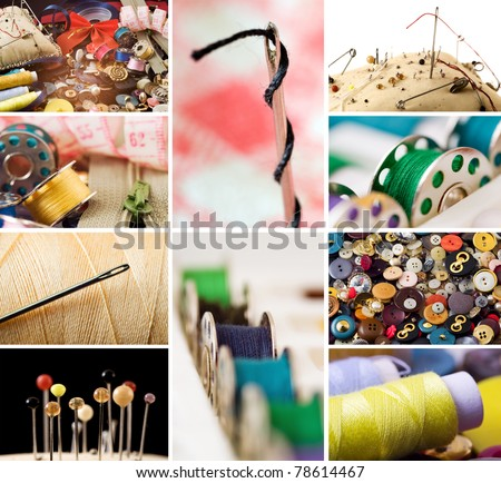 Sewing Items - stock photo