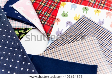 sewing machine. sew themselves. set of fabric for sewing. parts for sewinginterchangeable heads. sew. needle machines. thread. fabrics to suit every taste. sewing concept - stock photo