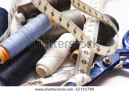 Sewing tools of the trade - stock photo