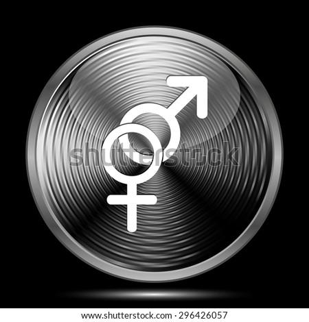 Sex icon. Internet button on black background.  - stock photo