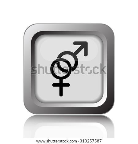 Sex icon. Internet button on white background. - stock photo