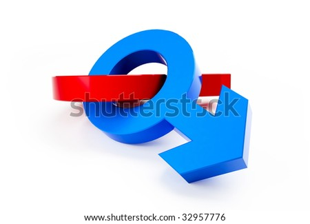 sex on a white background - stock photo
