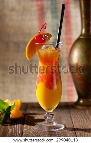Sex on the Beach Cocktail - stock photo