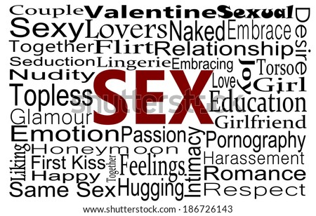 Sex word collage - stock photo