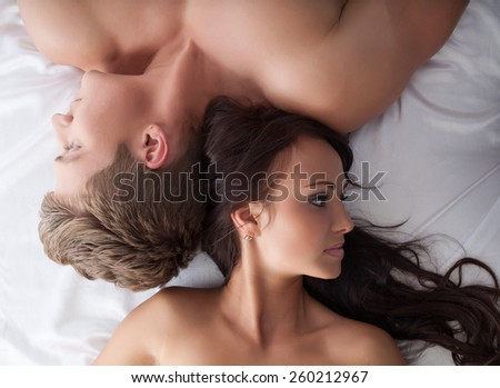 Sexual frustration. Lovers ignore each other - stock photo