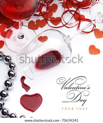 sexual greeting card Happy Valentine - stock photo