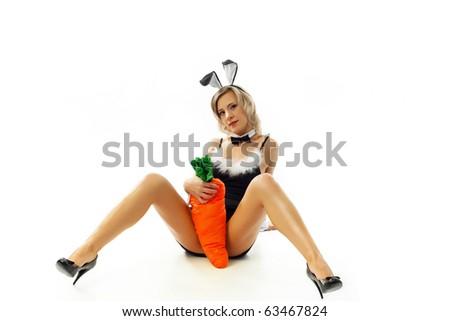 Sexual rabbit - stock photo
