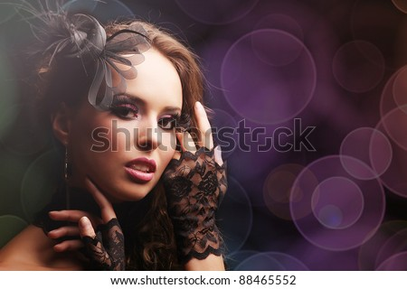 sexy and beautiful woman - stock photo