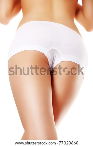 Sexy body isolated on white - stock photo