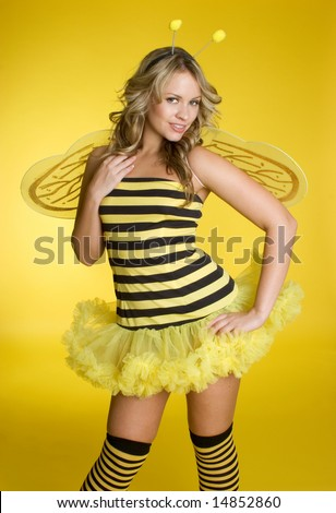 Sexy Bumblebee - stock photo