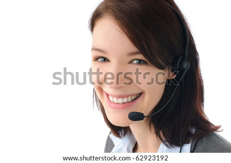 Sexy call centre staff - stock photo