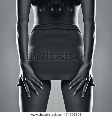 sexy curves girl butt, without cellulite - stock photo